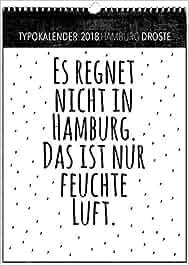 Typokalender Hamburg 2018 Amazonde Droste Bücher