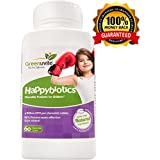 HappyBiotics Children's Probiotics -60 Chew-able Great tasting tablets. 100% Active & Natural Ingredients, Once Daily.for Kids Ages 2 and Up.Lactobacillus acidophilus and Bifidobacterium longum - Easy to Digest