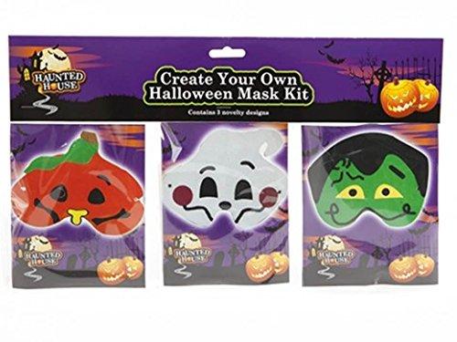 PMS 3Pack DIY Halloween Funny Face Maske Set -