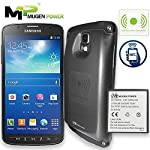 Compatible: at&t samsung galaxy s4 active i537 / samsung galaxy s4 active i9295 will last over 2x longer battery runtime than the original 2600mah samsunges with an extended battery cover narrow design more fit your hands holding the phone nfc an...