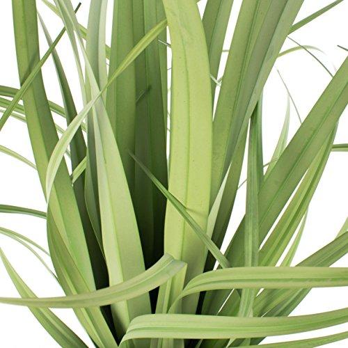 artplants Deko Yucca Busch mit 45 Blättern, Metalltopf, hellgrün, 80 cm – Künstliche Palme/Yucca künstlich