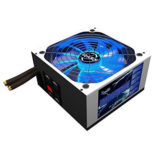 Mars Gaming MPZE750 - Netzteil gaming für PC (750W, 80 Plus Silver, aktive PFC, modular, 10 Schutzsysteme , LED-Beleuchtung, Ventilator 14 cm), weiß (Netzteil 750w Led)