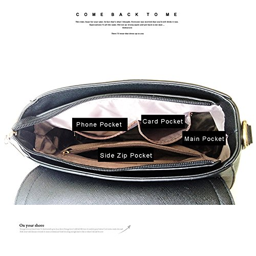 Yoome Street Style Flap Bag Printing Große Kapazität Nieten Tasche Functional Schultertasche New Chic - Rot Armee