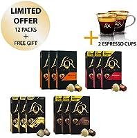 L'OR Espresso Café Espresso paquete de amante - Nespresso® * Cápsulas de café de aluminio compatibles - 12 paquetes de...