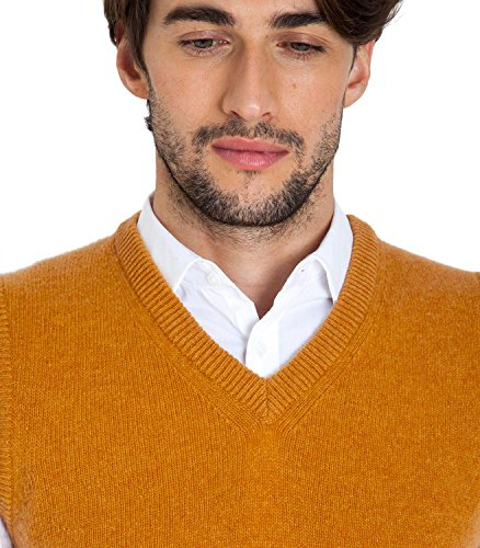 WoolOvers Pull sans manches - Homme - Laine dagneau Sandstone
