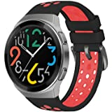 SIKAI Silicone Replacement Band Compatible with Huawei Watch GT 2e Smartwatch Soft Breathable Sweatproof Skin-Friendly Strap