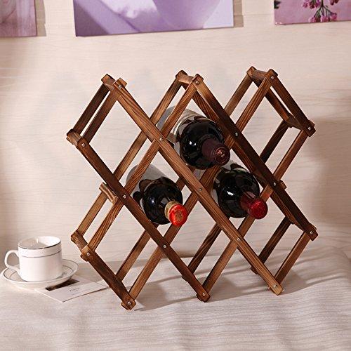 fan-tastik-10-bottle-pine-wooden-folding-wine-rack-carbonized-color