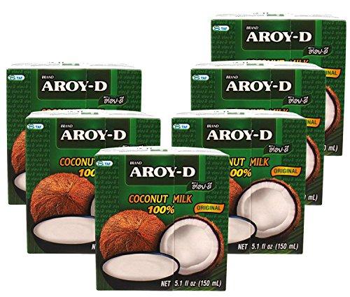 Das Wasser Der Kokosnuss-milch (AROY-D Kokosnussmilch 17 -19% Fettgehalt, 6 x 150ml)