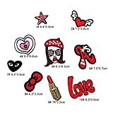 #4: iDream Iron on patches, Assorted Size Iron Embroidery Appliqué Decoration DIY Patch for Jeans Clothing etc (Theme D)