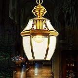 EI Guo Home Vintage Kronleuchter Kreative Beleuchtung Persönlichkeit Restaurant Schlafzimmer Wohnzimmer Lampe Kupfer Kleine Gang Balkon Garderobe Jane Europa Korridor 20 * 30 cm Vergleich