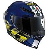 AVG Corsa VR46 - Casco integrale da moto, blu S blu