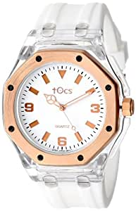 Tocs Unisex 40901 Analog Octagon Diver Rose White with Rose-Tone Watch