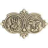 Oro antiguo San Cristóbal/St Michael Visera Clip