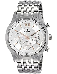 Titan Neo Analog Silver Dial Men's Watch - 1766SM02