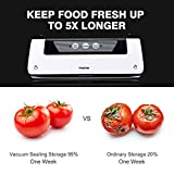 from Finether Finether Vacuum Food Sealer: Kitchen Food Sealer Food Sealing Machine Food Vacuum Sealer Machine Food Storage Saver for Home Kitchen Sous Vide Cooking 1 Roll Bag Included 3 years warranty Great Space Saver for your Freezer