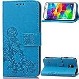 Handy schützen, Für Samsung Galaxy Hülle Kreditkartenfächer/Geldbeutel/mit Halterung/Flipbare Hülle/Geprägt Hülle Handyhülle für das ganze Handy für Samsung