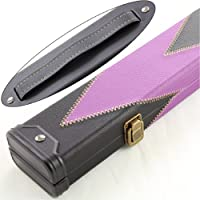 Luxury 2pc PURPLE ARROW Leather Patch Effect Snooker Pool Cue Case