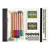 Reeves 8940531 Ausmalen nach Zahlen - Postkarten - Motive: Farbiger Kosmos
