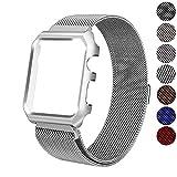 Für Apple Watch Armband 42mm 38mm,ERENCOOK Metall Mesh Magnetic Lock Edelstahl Strap Armband und Schutzhülle Gehäuse Rahmen Gehäuse Armbänder Für Apple Watch Series3/ 2/1 (Silver, 38mm)