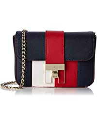f40f964d31140 Tommy Hilfiger Th Heritage Mini Crossover, Women's Cross-Body Bag, Blue  (Corporate