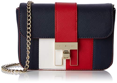 Tommy Hilfiger Damen Th Heritage Mini Crossover Umhängetasche, Blau (Corporate), 6x12x17 cm (Blaue Tommy Hilfiger Handtasche)