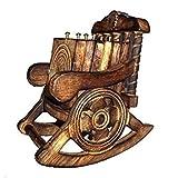 Classic Shoppe Chair Shape Handmade Wooden Coaster Set of 6