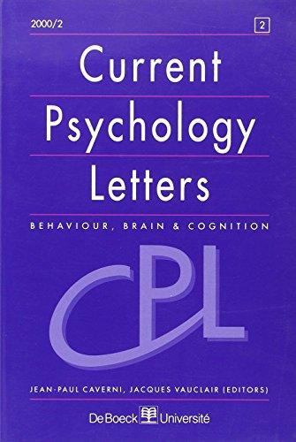 Current Psychology Letters 20002 -N.2 Recueil d'Articles