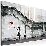 murando - Acrylglasbild Banksy 120x80 cm - 3 Teilig - Glasbilder - Wandbilder XXL - Wandbild - Bilder - i-B-0030-k-e Street Art