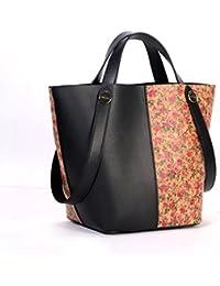 Basecamp Cork Tote Shoulder Bags In Genuine Leather Women'S Top Handle Satchel Handbags Made In Cork Coated (L...