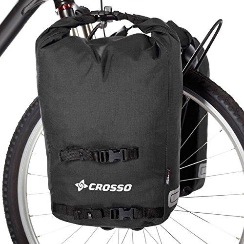 CROSSO TWIST SMALL CO1001 35 L Set Fahrradtasche Biketasche Gepäckträgertasche Schwarz