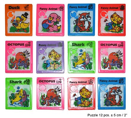 Mini Schiebepuzzle Farb-/Motivmix ca. 5 cm 12 Stück