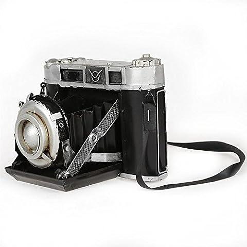 Ancaixin Vintage Metal SLR Camera Handmade Iron Crafts Art Decoration Home Décor, Black