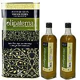 Kaltgepresstes Extra Natives (Virgin) Olivenöl aus Andalusien Olipaterna Säure 0,3 1A | 100% natürliches & reines Olivenöl für Feinschmecker | 5 L Kanister + 2 Stück 750 ml Flasche