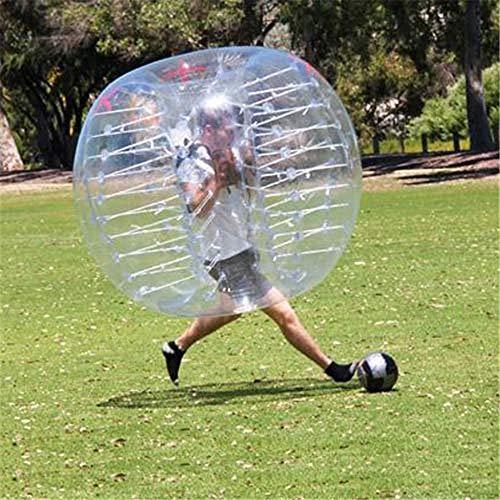 WXH Aufblasbare Stoßbälle, Blasen-Fußball, menschlicher Hamster-Ball, 1.2M / 4ft, 1.5M / 5ft Durchmesser, Qualitäts-PVC-Material, für Erwachsene oder Kind (Ball Kind Größe Hamster)