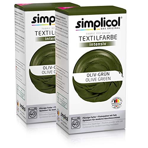 Simplicol tintura per tessuti colore intenso verde, kit tintura tessuti lavatrice indumenti & tessuti, contiene tinta liquida & fissante, tinta per tessuti sicura per te & la tua lavatric