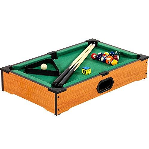 Mini Billardtisch + Zubehör oder Tischkicker 51x31x10cm Pool Billiard Tisch Kicker