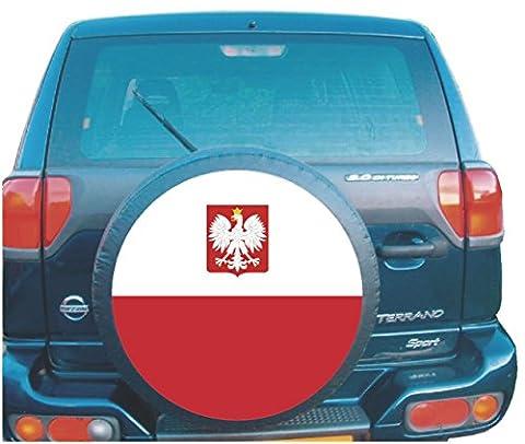 Flaga Polski 4x 4Autocollant pour roue de secours pour camping-car