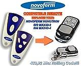 NOVOFERM NOVOTRON 502 MAX43-2, 504 MAX43-4 universal transmisor de repuesto mando a distancia, 433.92Mhz rolling code keyfob