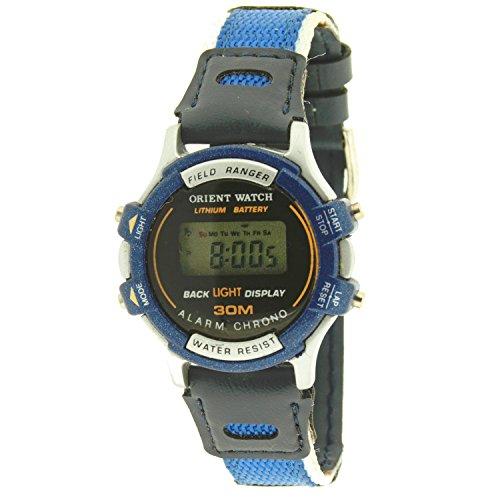 Reloj digital ORIENT WATCHpara niño o mujer (33 mm) - Crono, Alarma, Luz - Azul