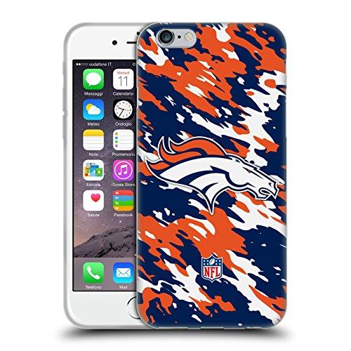 Ufficiale NFL Calcio Denver Broncos Logo Cover Morbida In Gel Per Apple iPhone 6 / 6s Camou