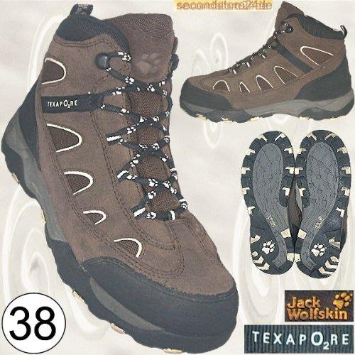 Jack Wolfskin Texapore Damenschuhe Damen Schuhe Trekkingstiefel Trekkingschuhe Wanderschuhe Stiefel, braun Gr. 38 [UK 5 - US 6 - CM 24.2 - Klimamembrane]