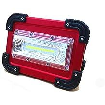 Doogu ricaricabile 30W LED COB luce faro da lavoro, anti–Crash, in lega di alluminio impermeabile IP65luci di emergenza di sicurezza per esterni campeggio Fashing Walking il cane con 18650batteria