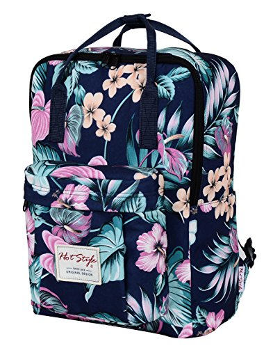 hotstyle-convertible-floral-backpack-for-girls-waterproof-holds-14-inch-laptop