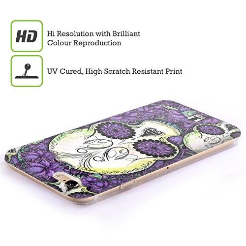 Head Case Designs Blu Teschi Floreali Cover Morbida In Gel Per Apple iPhone 7 / iPhone 8 Violetto