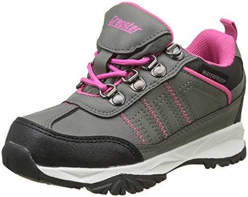 Latupo GmbH - Shoes Irmi, Scarpe da Arrampicata Basse Unisex-Bambini, Grigio (Grau/Pink), 34 EU
