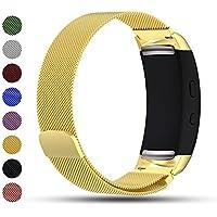 Samsung Gear Fit2/Gear Fit2 PRO Smart Uhr Ersatzband, iFeeker Zubehör Magnetverschluss Edelstahl Milanese Loop Metall Ersatz Armband Handschlaufe für Gear Fit2 SM-R360/Gear Fit 2 PRO Smartwatch