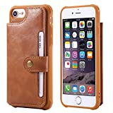 Wallet Cover Case for Apple iPhone 8 iPhone7 6 6s 4.7,Card Slot Wrist