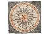 DIVERO 120 x 120cm Naturstein-Mosaik Motiv Sonne aus 16 Matten