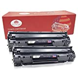 Toner Kingdom 2 Pack Compatible HP CE285A 85A Toner Cartridges for use in HP Laserjet Pro P1102 P1102w P1104 P1104w M1130 M1132 M1132mfp M1134 M1134mfp M1136 M1136mfp M1210 M1210mfp M1212 M1212nf MFP M1213nf M1217nfw MFP
