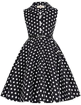 GRACE KARIN Maedchen 1950er Vintage Retro Kleid Polka Dots Kleid
